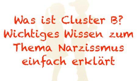 Was ist Cluster B? -Wichtiges Wissen zum Thema Narzissmus einfach erklärt-